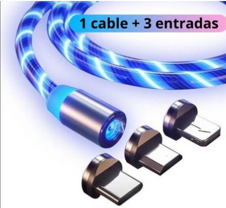 CABLE CARGADOR DE CARGA RÁPIDA IMANTADO 360 GRADOS