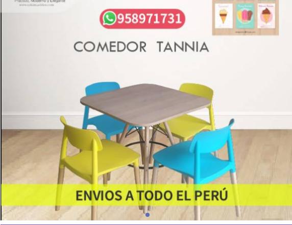 Sillas y mesas modelo Tannia, para restaurante
