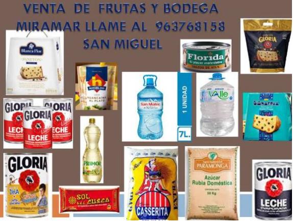VENTA DE FRUTAS Y ABARROTES