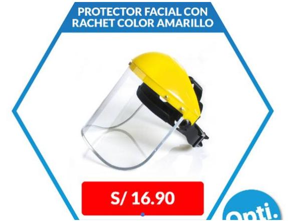 Protector Facial con Rachet color amarillo