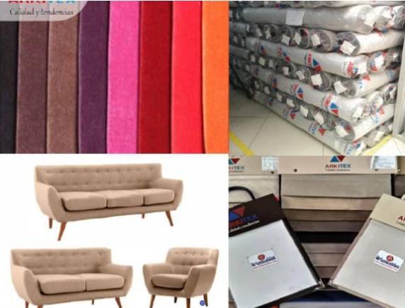 Tela para tapicería de sillas, camas y sofás