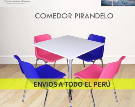 Comedores de polipropileno modelo Pirandelo