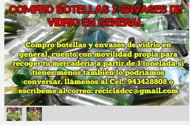 COMPRO BOTELLAS Y ENVASES DE VIDRIO EN GENERAL