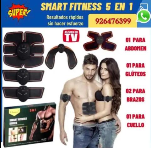 Smart Fitness Electroestimulador para Tonificar musculos de abdomen, brazos y piernas