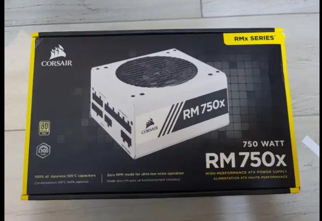 Vendo fuente de poder Corsair RM750X White Blanco 750 watts. 80 plus gold. Completamente nueva.