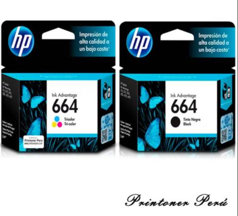 CARTUCHO DE TINTA HP 664 NEGRO Y COLOR