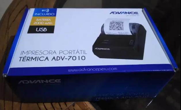Impresora Térmica inalámbrica marca ADVANCE ADV-7010