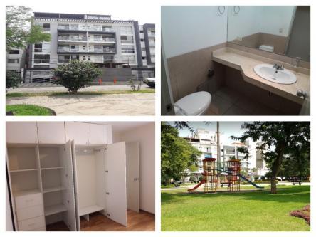 3 Cuartos, 130 m² – Se Alquila Departamento 130m2 frente al Parque Casuarinas Surco