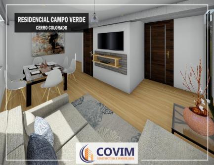 3 Cuartos, 87 m² – Preventa de Departamentos en Cerro Colorado