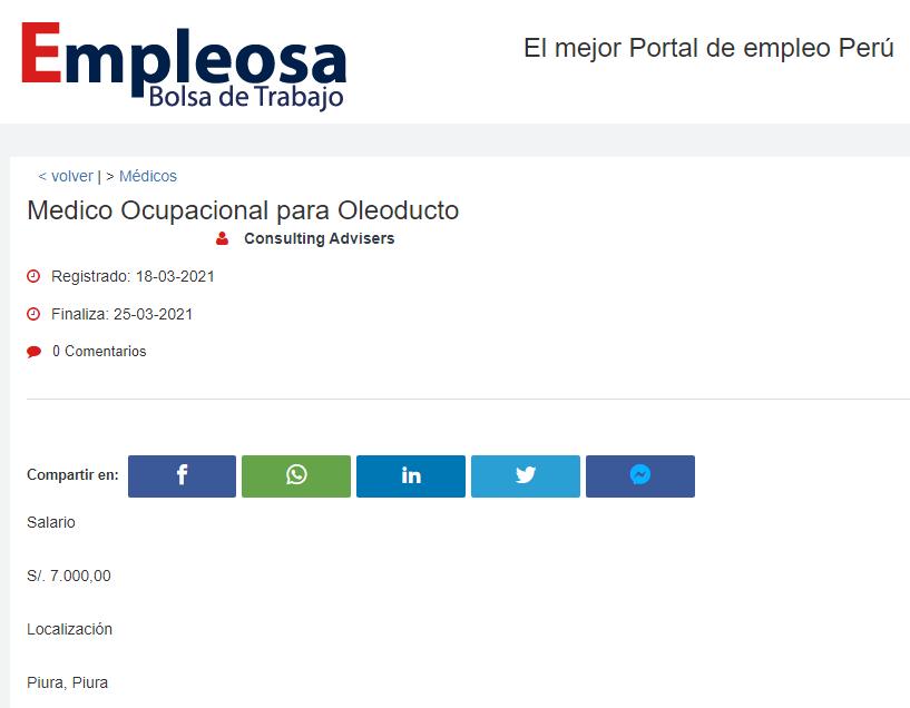 Medico Ocupacional para Oleoducto